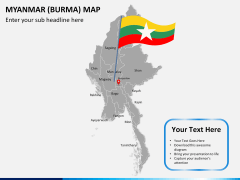 Myanmar (Burma) Map PPT slide 21