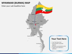 Myanmar (Burma) Map PPT slide 21