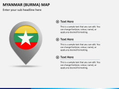 Myanmar (Burma) Map PPT slide 22
