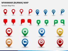 Myanmar (Burma) Map PPT slide 24