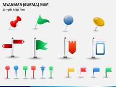 Myanmar (Burma) Map PPT slide 25