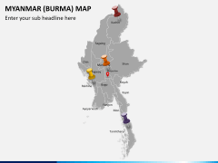 Myanmar (Burma) Map PPT slide 4