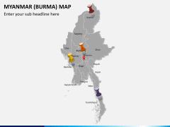 Myanmar (Burma) Map PPT slide 4