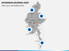 Myanmar (Burma) Map PPT slide 5