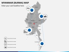 Myanmar (Burma) Map PPT slide 6