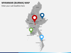 Myanmar (Burma) Map PPT slide 7
