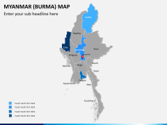 Myanmar (Burma) Map PPT slide 9