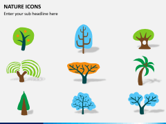 Nature icons PPT slide 2