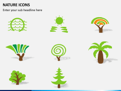 Nature icons PPT slide 3