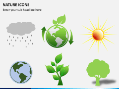 Nature icons PPT slide 4