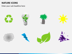 Nature icons PPT slide 5