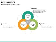 Nested circle diagram PPT slide 9