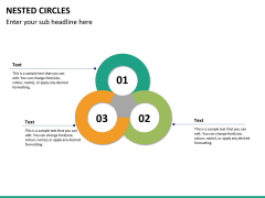 Nested circle diagram PPT slide 10