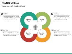 Nested circle diagram PPT slide 11
