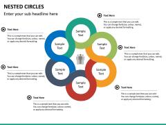 Nested circle diagram PPT slide 12