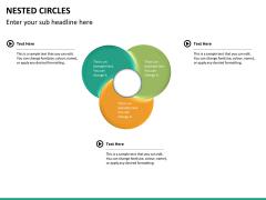 Nested circle diagram PPT slide 13