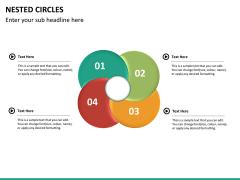 Nested circle diagram PPT slide 14