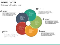 Nested circle diagram PPT slide 15