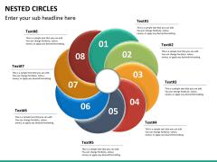 Nested circle diagram PPT slide 16