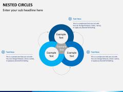 Nested circle diagram PPT slide 1