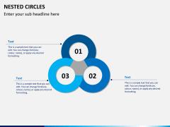 Nested circle diagram PPT slide 2