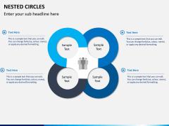 Nested circle diagram PPT slide 3