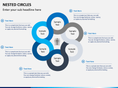 Nested circle diagram PPT slide 4