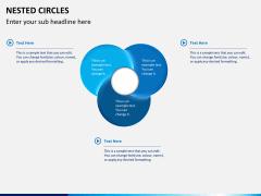 Nested circle diagram PPT slide 5