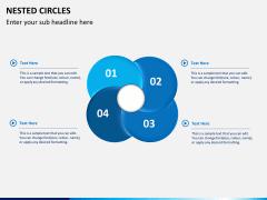 Nested circle diagram PPT slide 6