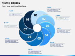 Nested circle diagram PPT slide 8
