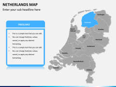 Netherlands map PPT slide 10