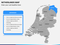 Netherlands map PPT slide 11