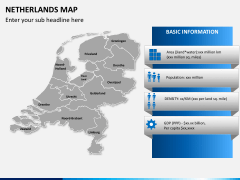 Netherlands map PPT slide 13