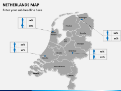 Netherlands map PPT slide 14