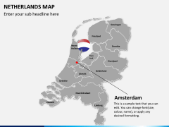 Netherlands map PPT slide 15