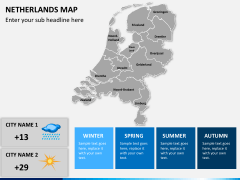 Netherlands map PPT slide 16
