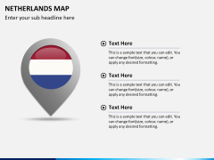 Netherlands map PPT slide 17