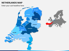 Netherlands map PPT slide 2