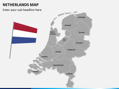Netherlands map PPT slide 3