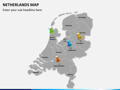 Netherlands map PPT slide 4