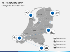 Netherlands map PPT slide 6