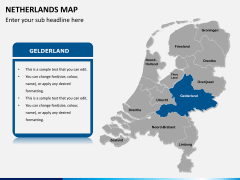 Netherlands map PPT slide 9