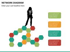 Network diagram PPT slide 15