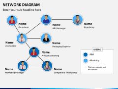 Network diagram PPT slide 3