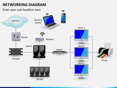 Networking diagram PPT slide 1