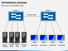 Networking diagram PPT slide 3