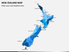 New zealand map PPT slide 1