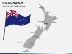 New zealand map PPT slide 2