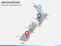 New zealand map PPT slide 4