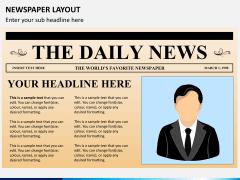 Newspaper layout PPT slide 2